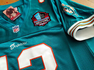 NEW Dolphins #13 Dan Marino Throwback special edition Dual Patch SEWN Jersey MEN