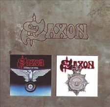 SAXON - Wheels Of Steel / Strong Arm Of Law - 2 CD - Extra Tracks Import VG