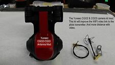 Yuneec Typhoon Q500+ or Q500 4K (CGO2 & CGO3) Antenna Video Camera Kit Mod