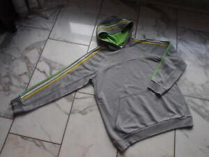 Adidas Kapuzenpullover Hoodie Gr.176 / 15-16Y Grau mit farbigen Strips