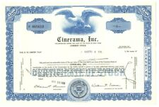 [B67899] 1969 STOCK CERTIFICATE 1 share Common CINERAMA, INC. (N. Y.) CANCELLED