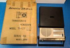 RARE! VTG Delmonico Nivico TPH-27 Transistorized record player Phonograph & box