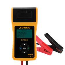 Analizzatore Digitale Auto Batteria Tester con Stampante 12V Multi lingua