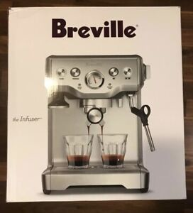 Breville BES840XL/C Infuser, New + Bottomless Portafilter + Distributor