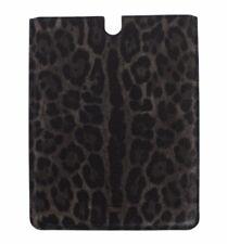 Nuevo Dolce & Gabbana Funda Tablet E-Book Cubierta Gris Diseño de Leopardo Piel