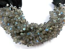 """1 Strand Natural Labradorite Teardrop Faceted 4X6-5x7mm 2""""inch Briolette Beads"""