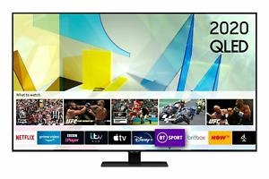 "Samsung Q80T QLED 4K HDR 1500 Smart TV Tizen OS QE75Q80TATXXU  49"" 75"" 85"""