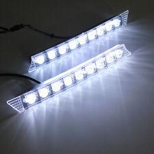2x White 9 LED Daytime Running Light DRL Fog Indicator Side Bumper Audi A6