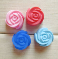 6Pc Set Rose Silicone Fondant Mold Cake Cupcake Flower Embossing Sugar Craft ZFW