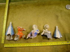 5 x excavated vintage Art deco lovely painted doll head age 1890 Germany B 406