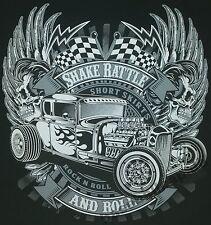 T-Shirt Nr.690 Gr.S-M-L-XL-2XL schwarz Biker Hot Rod PinUp Rockabilly V8