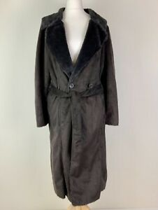 Minuet Brown Lightweight Soft Shearling Type Coat in Suede Effect Fabric Soft Fa