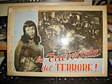 projet authentique pour fotobusta film LE PASSAGE À NIVEAU del TERREUR ! 1950