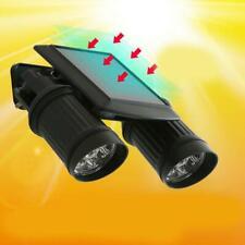 14 LED Dual Head Solar Powered PIR Motion Sensor Spotlight Yard Light Waterproof