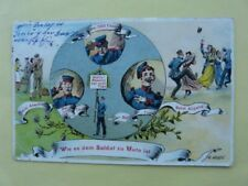 German Posted Collectable Military Postcards (Pre-1914)