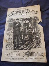 Partitur Le credo du bauer J Notiert Borel Goublier 1945 Music -blatt N°2