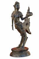 Bronze Statue Kinaree Kinnari Thailand 30cm Thai Skulptur Metall Asiatika Asien