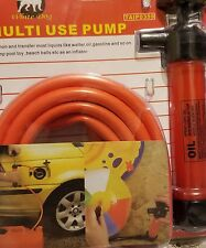 New MULTI USE Air Pump + Auto Gas Water OIL SIPHON Syphon Hose DIY Hand Tools GS