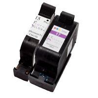 2 Pack Ink Cartridge for HP 15 17 HP15 HP17 Deskjet 825 840 841 842 843 845