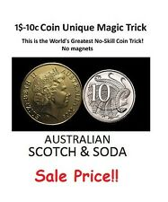 $1-10c Australian Dollar Coin Unique Magic Trick / Australian Scotch and Soda