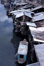 Vietnam 1971- Boats, Shanty Homes - Ben Nghe Channel - Saigon