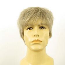 Perruque homme 100% cheveux naturel blanc méché gris ref KEVIN 51