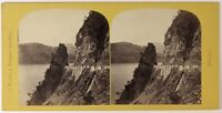L Axenstrasse Suisse Foto PL27L1n Stereo A. Braun Vintage Albumina c1865