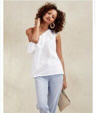 *The White Company One Shoulder Frill Neck Gorgeous Summer Top Size 12 New £49