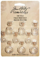 Tim Holtz Idea-ology Tiny Vials Adornments Charms Decorative Ornaments Ideaology
