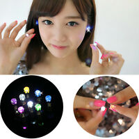 Punk Unisex Light Up LED Bling Ear Studs Earrings Accessories Party/Xmas Gift