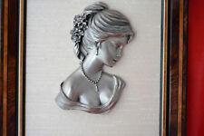 ETAINS du PRINCE  tableau cadre bois - portrait de Jeune Femme - BACHET