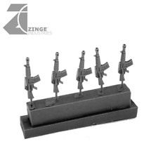 Zinge Industries Infantry Human Rifle M16/M4 Set of 5 Guns S-GAR04 New 28mmScale