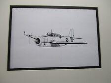 Grumman TBF Avenger Torpedo Bomber  artist pen ink  1964 New York Worlds Fair