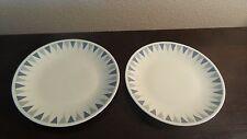Pyramids by Iroquois Ben Siegler Design Bread & Butter  Plates x 2
