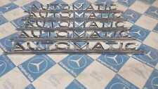Mercedes NEW W108 W109  W111 W110 W112 Automatic Trunk Emblem Heckdeckel