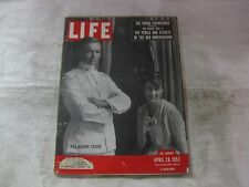 Vintage Life Magazine April 28th 1952 Ike's Wedding Picture Publisher Time mg534