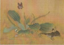 FROG / TOAD & BUTTERFLY : POSTCARD OF A CHINESE SCROLL PAINTING ART C1321