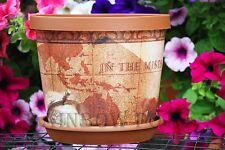 Decor Coloured Plastic Plant Pots Flower Pot Planter with Saucer Tray, Wedding