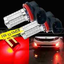 2X H8 H11 RED 33SMD 5730Chip LED Lens Bulbs For Auto Car Driving Fog Lights