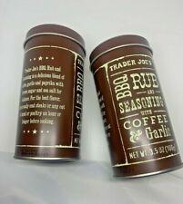2 Trader Joe's BBQ Rub Seasoning w/Coffee & Garlic 3.5 oz Summer Availability