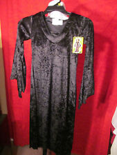 Girls Halloween Black Crushed Velvet Like Dress Gown Size M or Large Kids