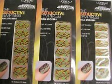 Loreal Project Runaway The Seductive Temptress Nail Stickers Lot of 3