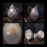 2 Cerámica Porcelana Manzano Del Siglo Japón Art Nouveau Diseño Pn Xx N143