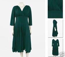 NEW Zaftique LS HOLLYWOOD DIVA Dress EMERALD Green  (Few Left!) 2Z / 20 22 / 2X