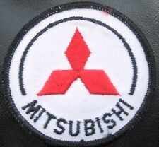 """MITSUBISHI EMBROIDERED SEW OR IRON ON PATCH MOTORS AUTOMOBILE LOGO 3"""" ROUND"""