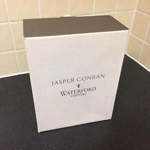 """2 X Waterford Crystal Jasper Conran Aura 10"""" Large Wine Glass/Goblets VGC Boxed"""