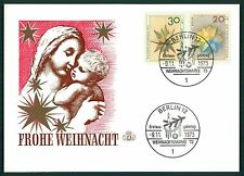 BUND/BERLIN MK 1973 WEIHNACHTEN CHRISTMAS NOEL CARTE MAXIMUM CARD MC CM au21