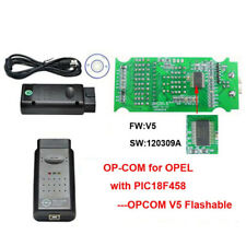 Latest OP COM V1.7 Flashable PIC18F458 Chip OPCOM V5 OBD2 for Opel With Software
