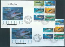 PAPUA NEW GUINEA 2003 DOLPHINS Wildlife FDC Covers x 2 Illustrated(Pap6)