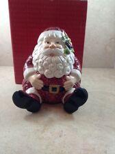 FITZ AND FLOYD Christmas Santa Candy Jar Unused In Original Scuffed Box